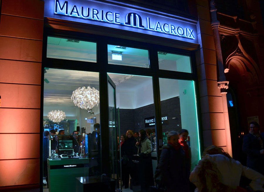 Maurice lacroix neuer flagship store in berlin von for Maurice boutique